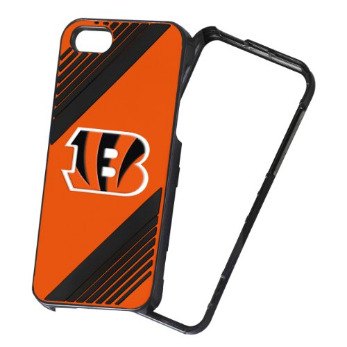 NFL 2-Piece Snap-On iPhone 5/5S Polycarbonate Case - Retail Packaging - Cincinnati Bengals ()