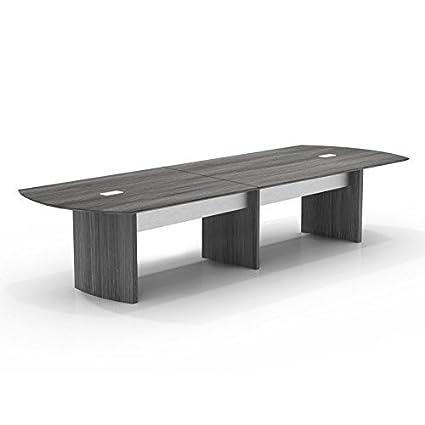 Amazoncom Mayline Medina Ft BoatShaped Conference Table - 14 ft conference table