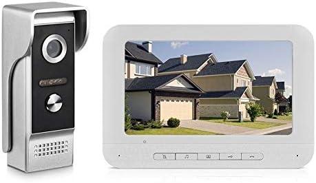 7インチTFT-LCDカラー画面ビデオドア電話ドアベルインターホンキット1室内モニタービジョン防水用のホーム・アパートヴィラ 呼び鈴 防水 防塵 ワイヤレスチャイム 玄関チャイム