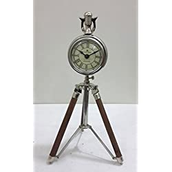THORINSTRUMENTS (with device) Nautical Designer desk clock with Tripod Nautical Table Clock 3