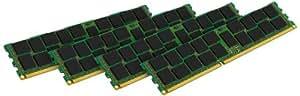 Kingston KVR16LR11S4K4/32I - Memoria RAM de 32 GB (1600 MHz DDR3L ECC Reg CL11 DIMM Kit (4x8 GB) 1.35 V, 240-pin, Certificado Intel)