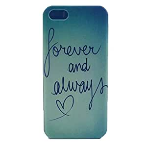 PowerQ [for Iphone4 IPhone 4S 4 4G IPhone4S - Forever&Always] Colorful Pattern Plastic Series Case Bag Pattern Print Printing Drawing Cell Phone Case mobile Cover Protect Skin
