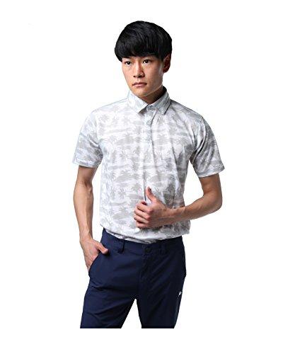 ツアーディビジョン ゴルフウェア ポロシャツ 半袖 ヤシの木プリント半袖シャツ TD220101H02 WH L