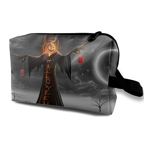 Halloween Scarecrow Cosmetic Bags Makeup Organizer Bag Pouch Zipper Purse Handbag Clutch Bag ()