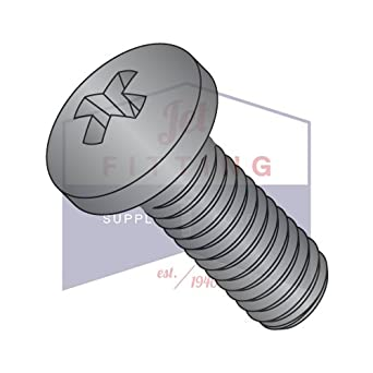 Select Length #0-80Black Oxide 18-8 SS Phillips Flat Head Machine Screws