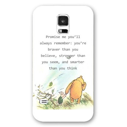 Onelee Customized Disney Series Phone Case for Samsung Galaxy S5, Winnie the Pooh Samsung Galaxy S5 Case, Only Fit for Samsung Galaxy S5 (White Frosted Shell)