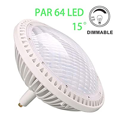 BAOMING PAR64 LED Bulb Replace Traditional 500w PAR64 15° 40W DIMMABLE Warm White 2700~3000K 120V GX16D