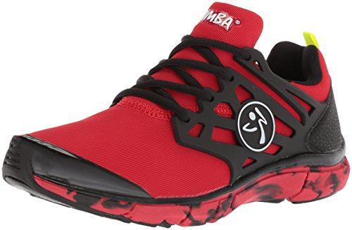 Zumba Women's Fly Fusion Athletic Dance Workout Sneakers with Compression Cushioning Red