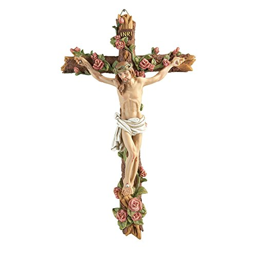 (Collections Etc Hand-Painted Crucifix Wall Decor )