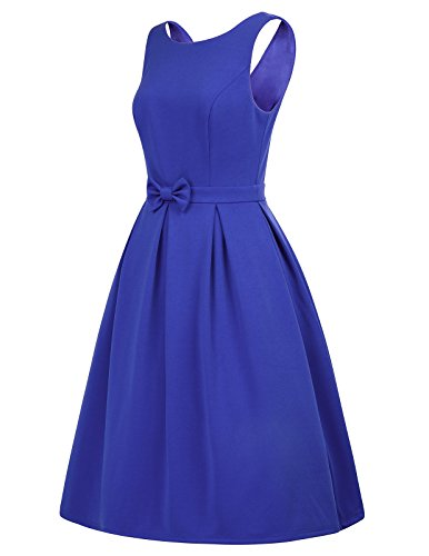 Belle Poque Vintage Ärmellos Kleid Knielang V Rücken A Linie Kleider BP463 Bp463-2 C9EocOn