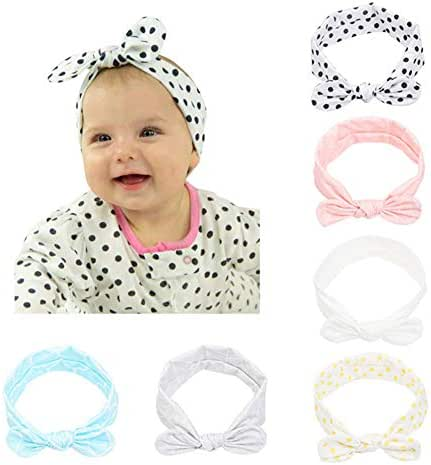 Baby Headbands –6Pack Soft Stretchy Cotton Headbands for Baby Girls