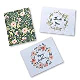 Soul & Lane 3 Greeting Card Set - Happy Birthday, Thank You, All-Occasion - Blank Inside, Envelopes Included - 4 x 6 Inches