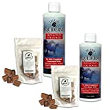 2 Bottles Best Rain Rot Treatment for Hores - Equiderma Skin Lotion Ring Worm, Scratch Remedy & Mikes Instinct (tm) Apple Flavored Munchies Treats - Equestrian Bundle
