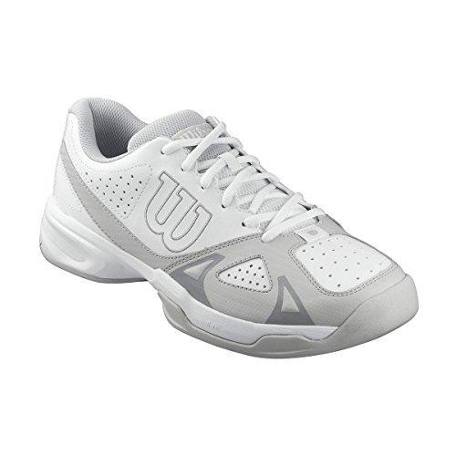 Wilson Men's Rush Open 2.0 White/gray Sneaker (11.5) - Wilson Leather Shoes
