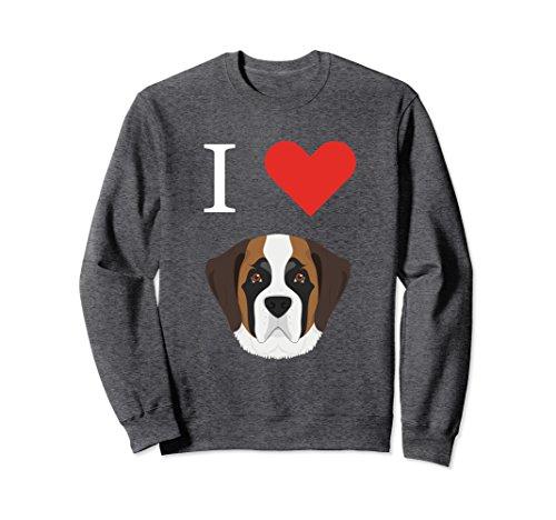 Unisex I Love My St. Bernard Dog Sweater 2XL Dark Heather (Dog Sweater Polyester)