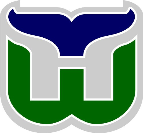 Hartford Whalers Hockey Bumper Sticker 5'' x 5'' ()