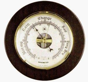 Graphic Image Brass Precision Barometer on Cherry Wood Bey Berk International Brass