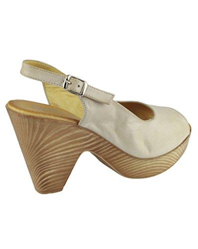 Riva - Sandalias de vestir para mujer Beige