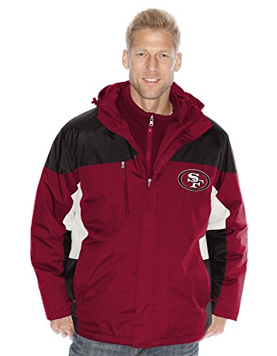 San Francisco 49ers NFL「Lombardi」システム3 - in - 1 Heavyweightパフォーマンスジャケット