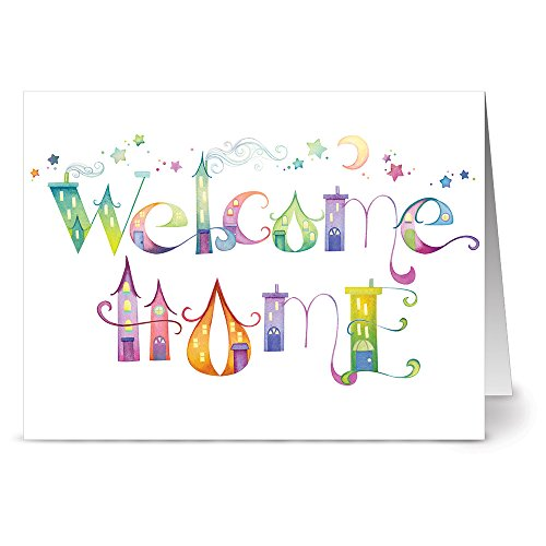 Our Town Welcome Home - 36 Note Cards - Blank Cards - Green Envelopes Included (A New Home For The Holidays Card)