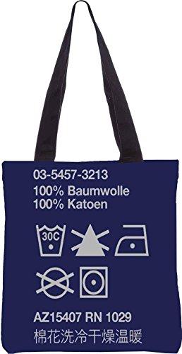 Snoogg Wash Care 2910 13.5 x 15 Zoll-Shopping-Dienstprogramm-Einkaufstasche aus Polyester-Segeltuch gemacht