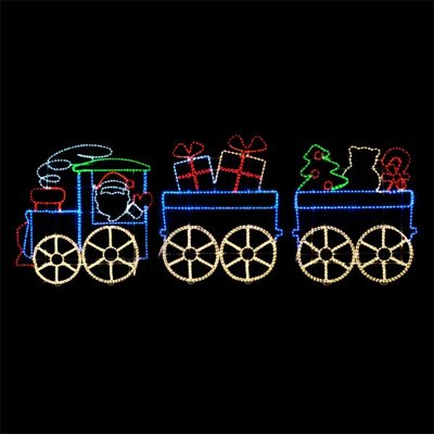 Outdoor Lighted Train Display - 6