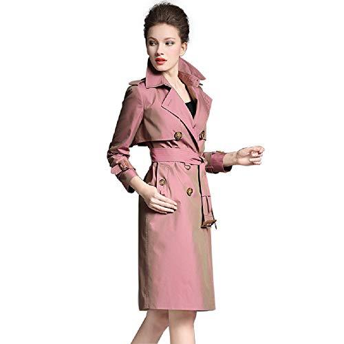 Giacca Zhangzhiyua Trench B Lungo Elegante Donna Da R76awFq