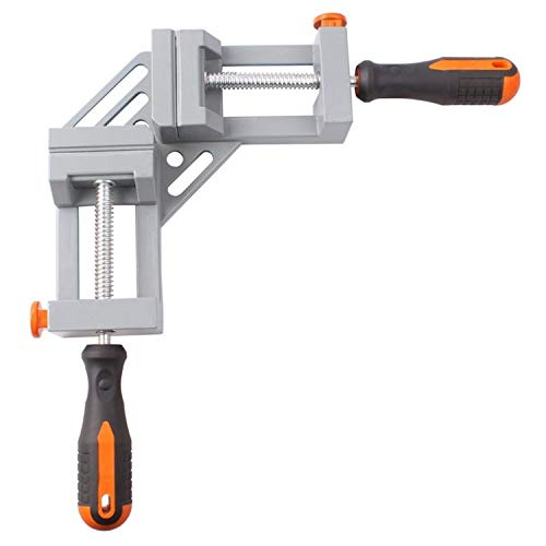 Universal Aluminum Alloy Right Angle Clamp Woodworking Tools Jigs Double Handle 90 Degree Right Angle Clips Quick Corner Clamp Universal tools