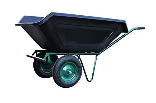 Schubkarre-250-Liter-zweirdrig-Metallachse-Luftrder-robuste-Kunststoffmulde-Gartenkarre