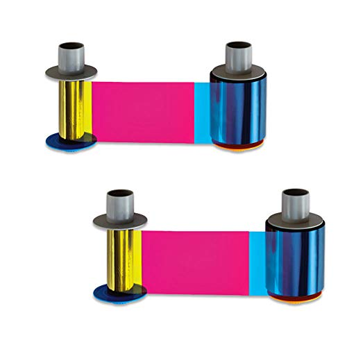Fargo 84052 YMCKK Color Ribbon for HDP5000 Printers - 2 Pack