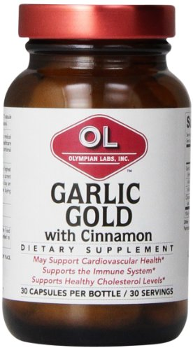 Olympian Lab Garlic-Gold with Cinnamon Capsules, 30 Count - Olympian Labs Garlic