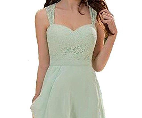Homecoming Lace Dress Dress Short Bridesmaid Sage Sweetheart Chiffon Peach Botong 0xXW6qZPwI