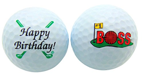 Westman Works Happy Birthday #1 Boss Golf Balls Gift Boxed Two Ball Set