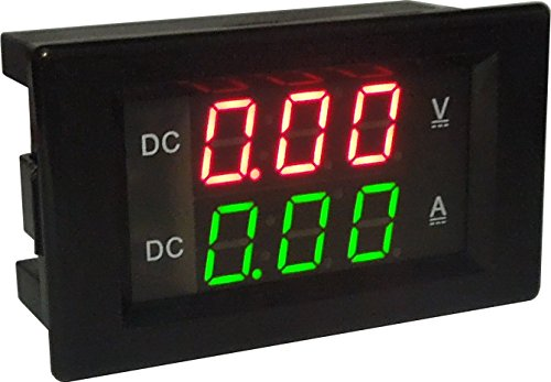 LM YN Digital Voltage Current Meter DC 0-600V 0-100A Ammeter Voltmeter Red & Green LED Dual Display with Shunt Two-Wires