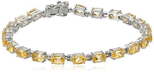 Citrine Oval Cut Tennis Bracelet in Sterling - Citrine Jewelry