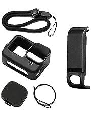Siliconen beschermhoes voor GoPro Hero 9 Accessoires Kit Lens Cap Handriem Zwart