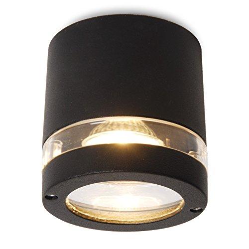 Eco Light Moderne Deckenleuchte Focus, Ohne Leuchtmittel, IP44 für den Außenbereich 6042 GR [Energieklasse A++]