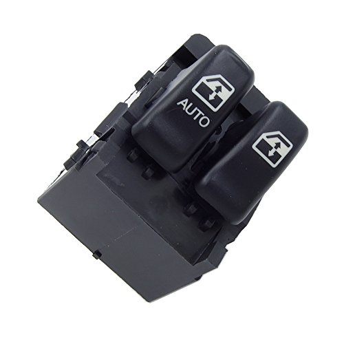 Power Window Control Switch - Front Left Driver Side,For 2000-2005 Chevrolet Venture 2000-2004 Oldsmobile Silhouette (10387305, 10419308) Black