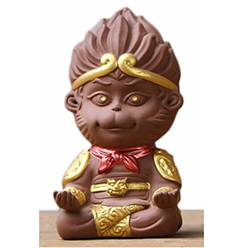HKJCstore Monkey King Figurine Sun Wukong Statue Housewarming Congratulatory Gift Home Decor/car decoration (Brown A)