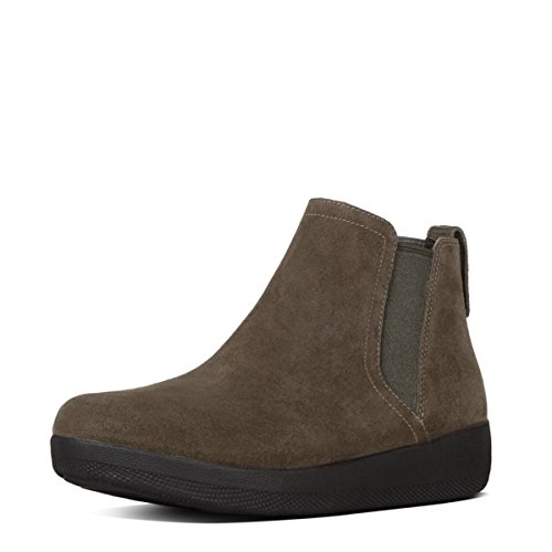 Fitflop Superchelsea Tm Boot, Zapatillas Altas para Mujer Bungee Cord