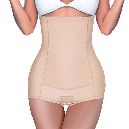 BRABIC Women High Waist Control Panties Postpartum Belly Girdle Slimming Underwear Butt Lifter Shapewear (Beige, XL (Waist 31.5