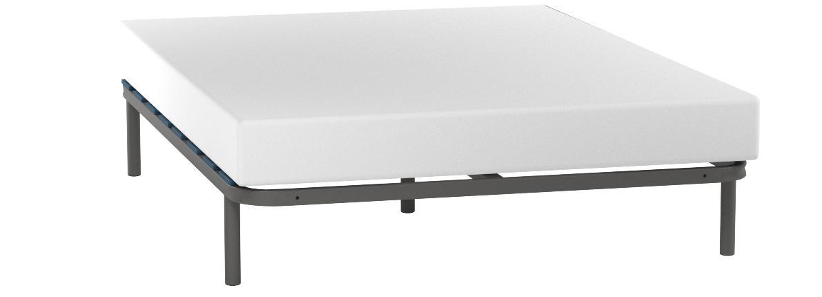 Hogar 24 Somier Multiláminas con Reguladores Lumbares + Juego De 5 Patas De 32cm, 150x200cm