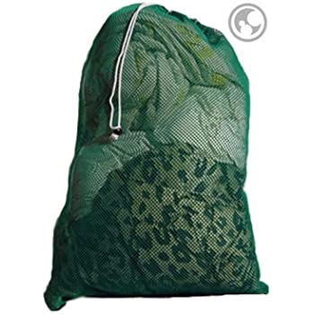Amazon.com: Large Mesh Laundry Bag, Color: Green, Size: 24x36: Home & Kitchen