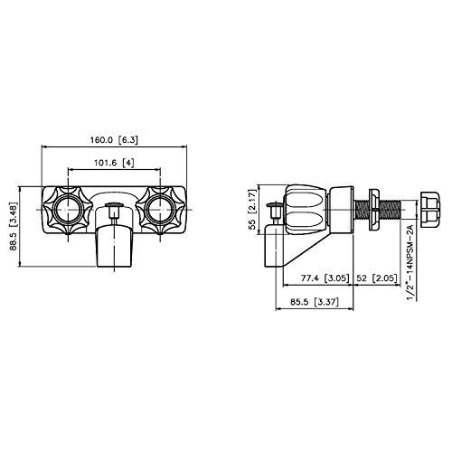 Laguna Br 3210ACP RV Replacement Non-Metallic Two Handle ... on