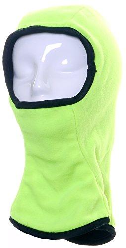 Mesdames Womens réversible Hi Viz jaune et noir doux chaud Workwear vélo bicyclette cagoule masque en unique taille