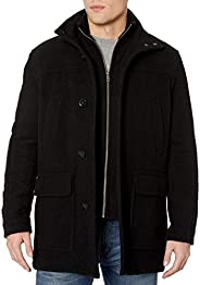 Cole Haan Signature Men's Wool Plush Car Coat with Attached