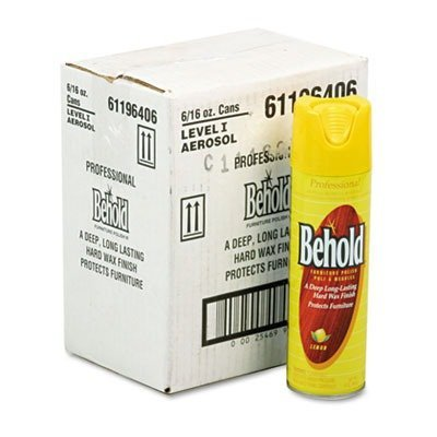 Ecolab Professional Behold Furniture Polish, 16oz Aerosol, Lemon, -