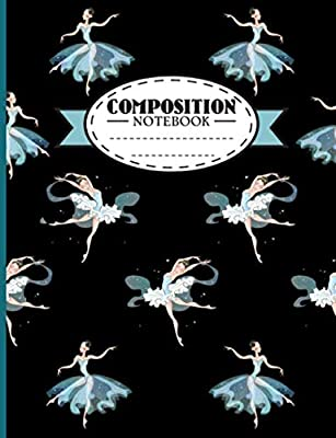 Ballet College Ruled Composition Notebook: Ballerina Dance Pattern Blank Lined Paper Book, 100 Writing Pages (Ballet Activity Workbooks Vol 2)