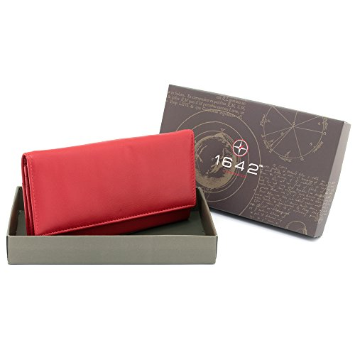 Credit 1030 Purple Card Flap Zip Poppy Leather 17 1642 Purse Over with Soft Style Slots Large Note Sections Inside Nappa pUnwafqv
