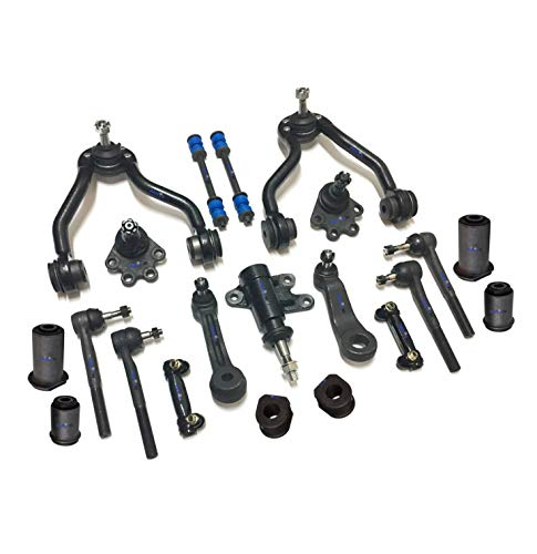 - PartsW 21 Pc Complete Suspension Kit for Blazer K2500 K1500 Yukon/Adjusting Sleeves, Control Arms with Ball Joints, Tie Rod End, Idler & Pitman Arms, Front Sway Bar Frame Bushings - 27mm (1.06 Inch)